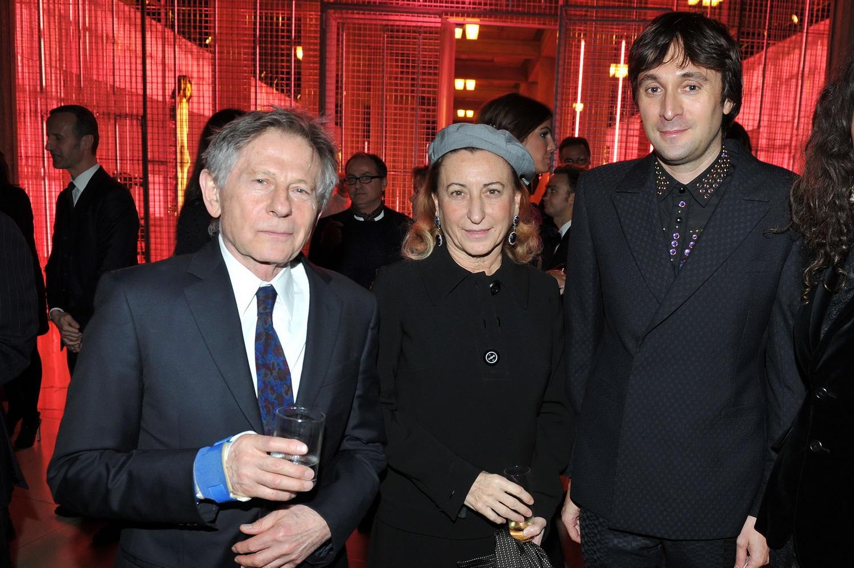 Roman Polanski, Miuccia Prada e Francesco Vezzoli.