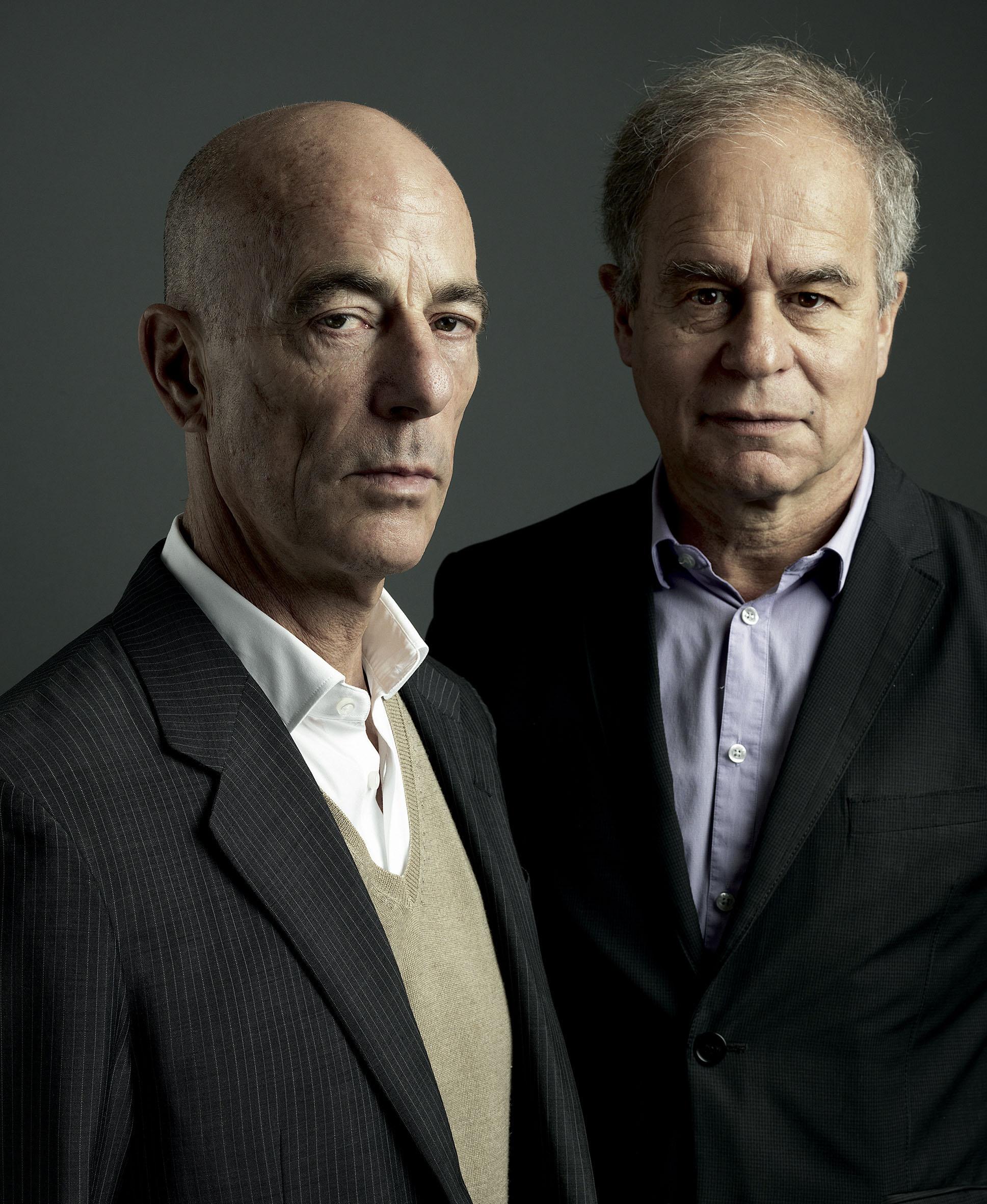 Jacques Herzog (left) and Pierre de Meuron. Herzog & de Meuron. © 2011, Marco Grob