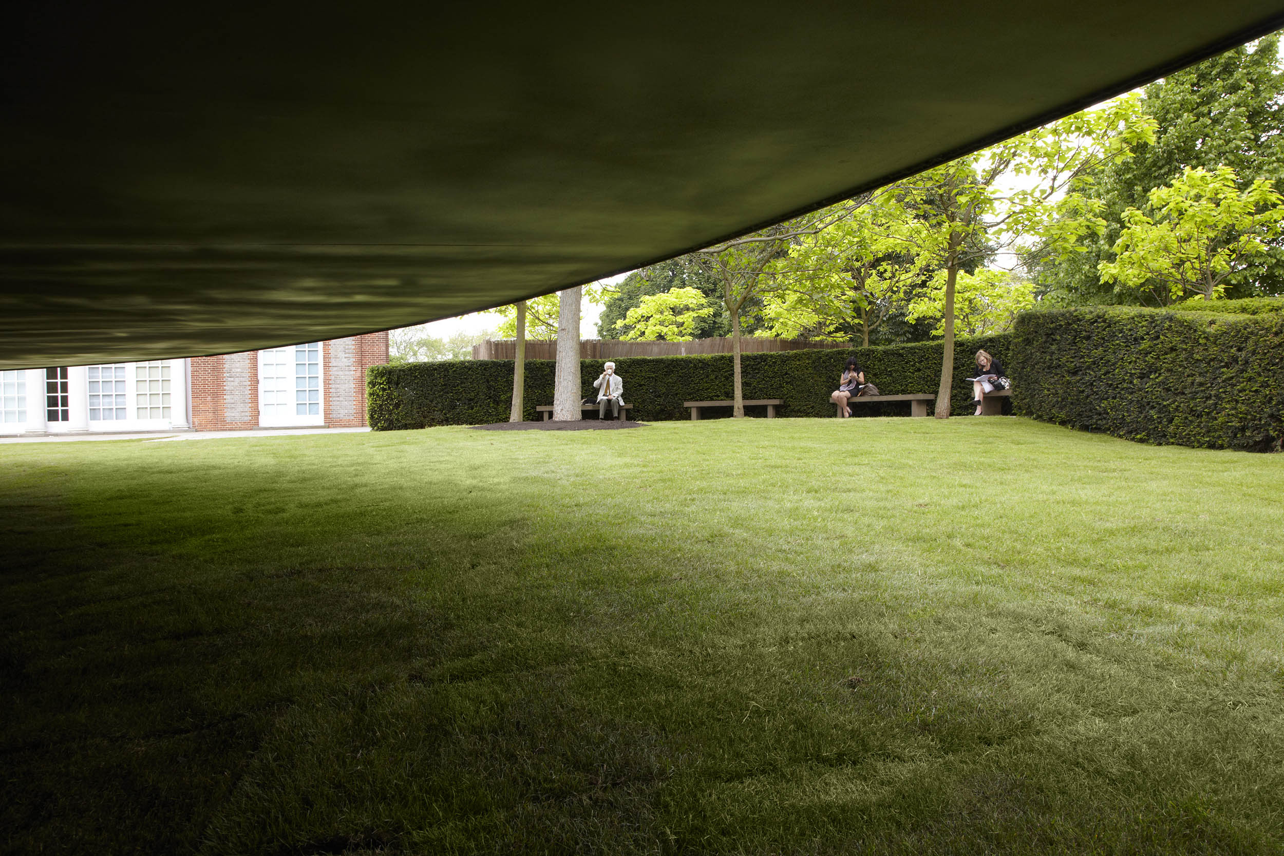 Serpentine Gallery Pavilion 2012. Designed by Herzog & de Meuron and Ai Weiwei. © Herzog & de Meuron and Ai Weiwei. Photo: © 2012 John Offenbach