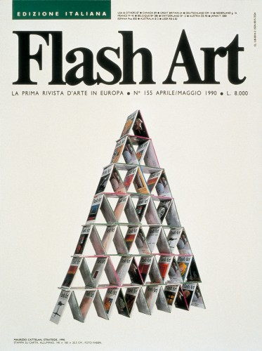 Maurizio Cattelan Strategie 1990 Flash Art
