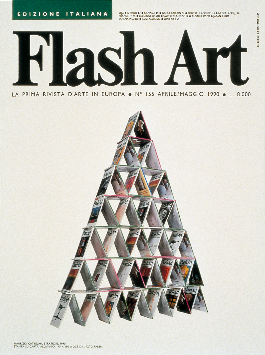 Maurizio Cattelan Strategie 1990 Flash Art
