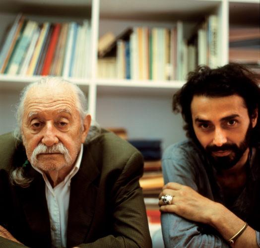 Ettore Sottsass e Fabio Novembre, 2007. Foto: Leo Gullbring