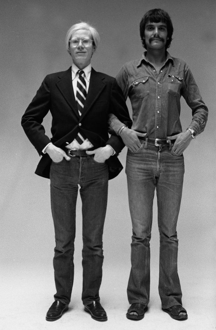 Andy Warhol e Oliviero Toscani, 1973.