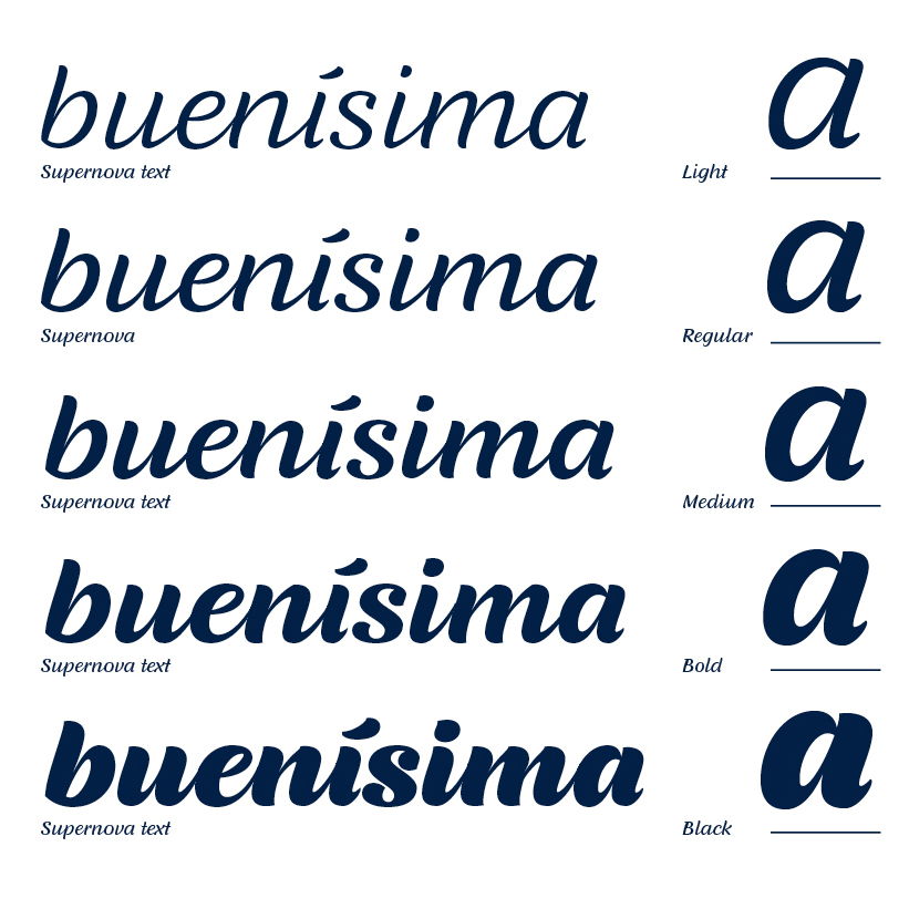 Supernova a new typeface by Typotheque
