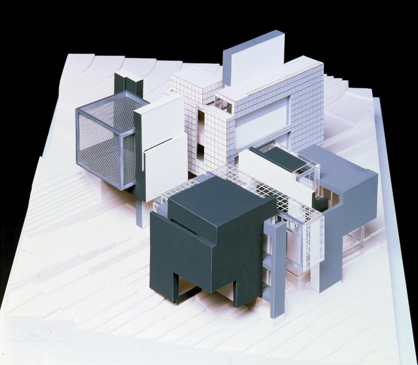 Peter Eisenman, House X, Bloomfield Hills, Michigan, 1975. Axonometric model. Photo: Dick Frank Studio. Courtesy: Eisenman Architects