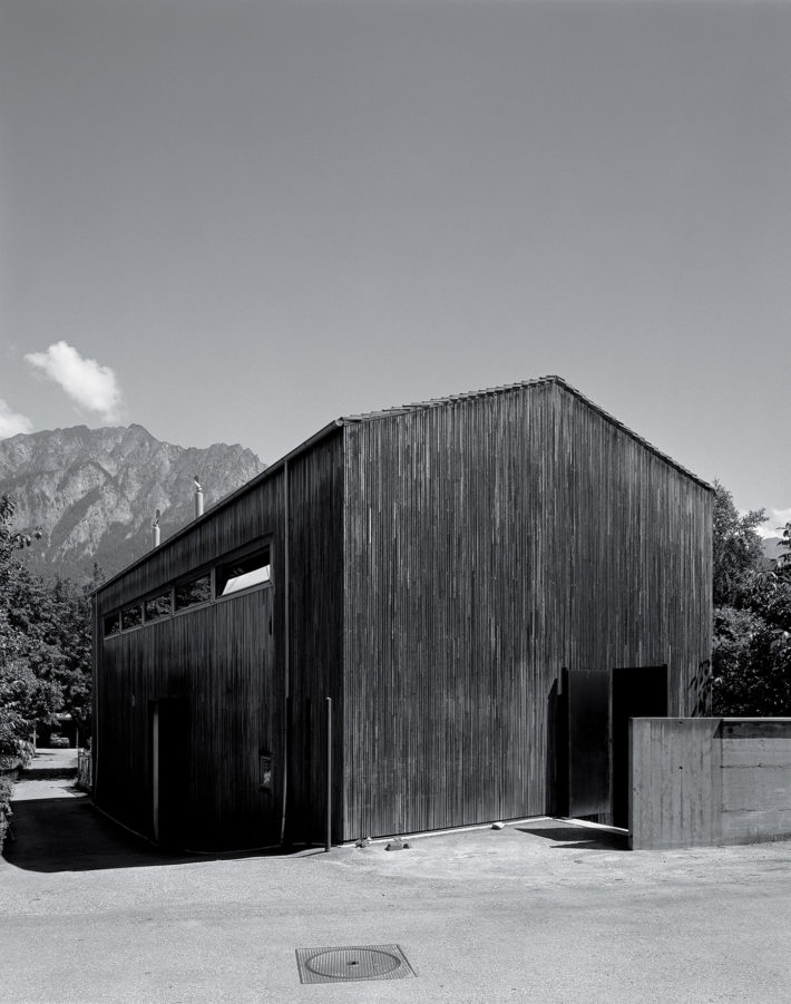 Zumthor Studio, Haldenstein, 1986. Photo: Hélène Binet.