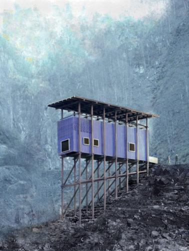 Peter Zumthor, Zink-Mine-Museum Almannajuvet, Sauda, (model).