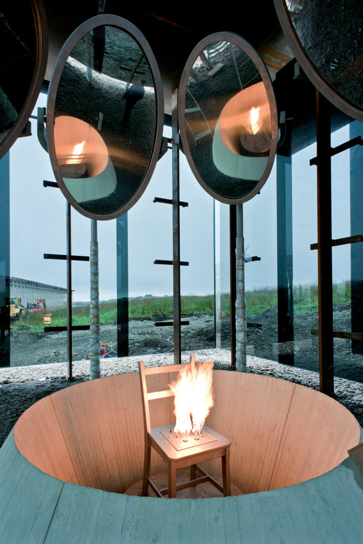 Peter Zumthor, Memorial to the Burning of Witches, Vardø, 2007-ongoing (model). Installation by Louise Bourgeois. Photo: Jiri Havran.