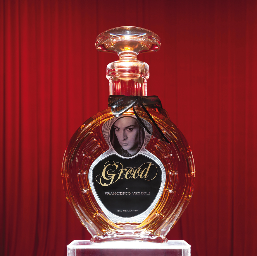 Francesco Vezzoli, Greed, The Perfume That Doesn't Exist, 2009. Courtesy: Gagosian Gallery, New York.