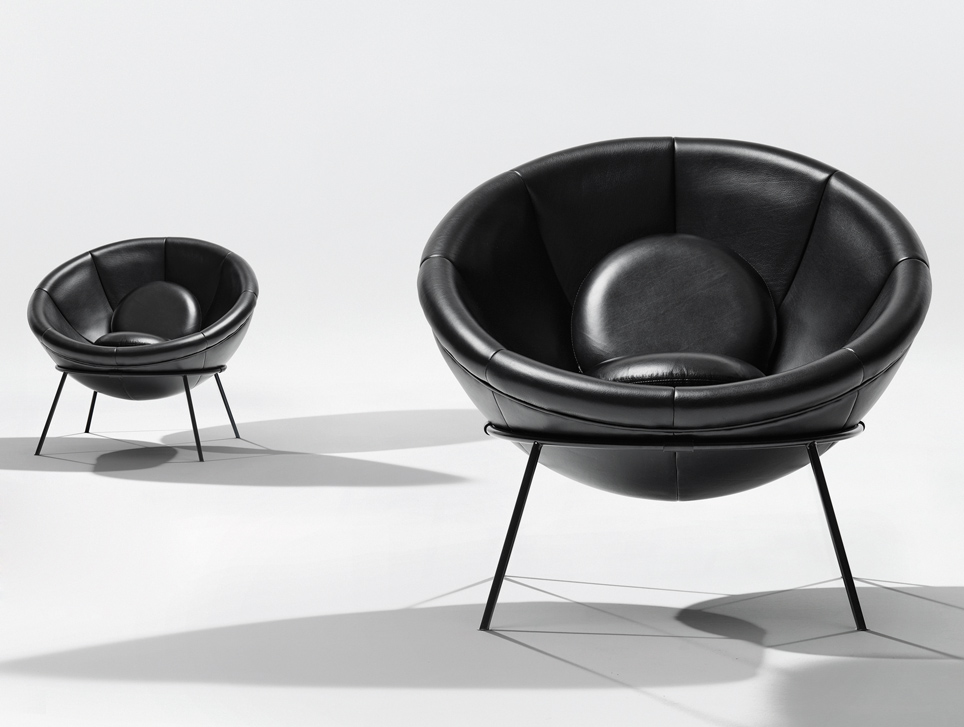 Bowl Chair, disegnata da Lina Bo Bardi nel 1951