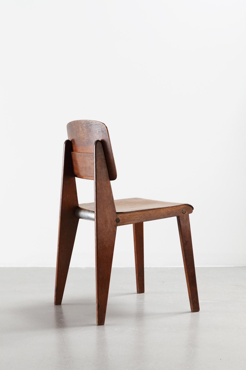 Jean Prouvé, Sedia smontabile in legno CB 22, 1947.