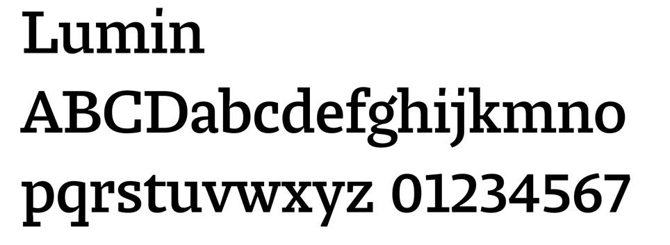 Lumin Font
