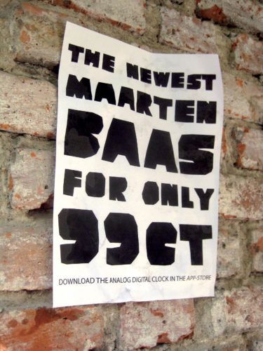 Maarten Baas, Analog Digital Clock (poster), 2010.