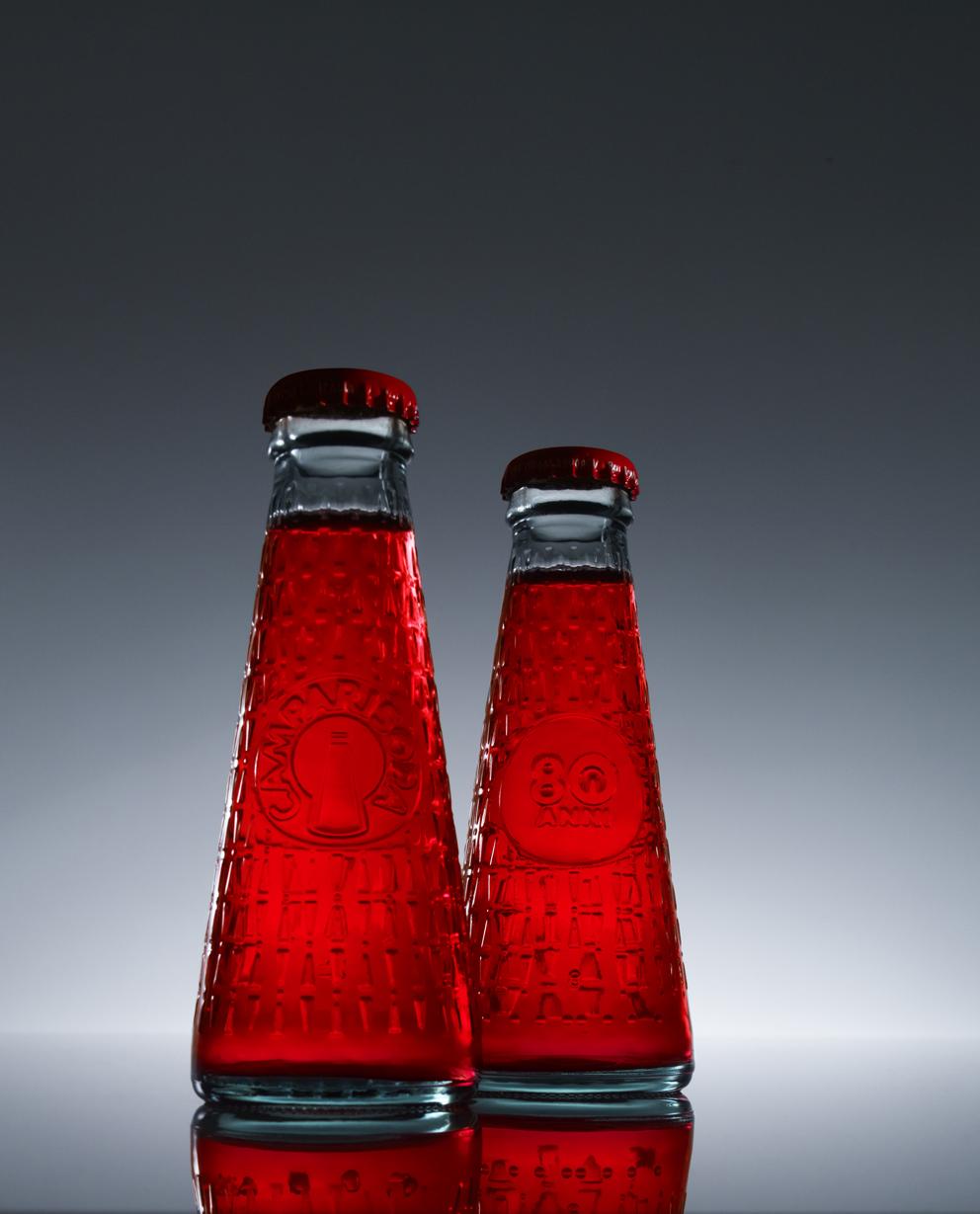 Camparisoda Bottiglia 80esimo, design di Matteo Ragni