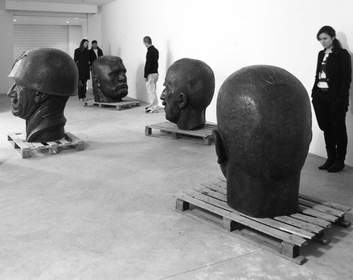 Rossella Biscotti, Le teste in oggetto, 2009. Courtesy: Prometeogallery, Milano/Lucca Photo: Ela Bialkowska