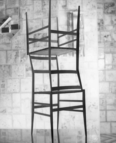 Sedie Superleggera, deisgn Gio Ponti, alla sede Alitalia di New york, progettata nel '58