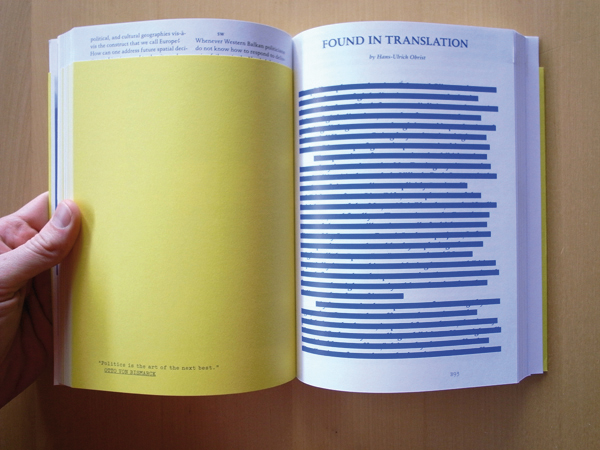 Markus Miessen, The Violence of Participation. Sternberg Press, 2007. Photo: Zak Kyes.