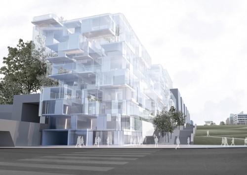 Philippe Rahm Architectes, Offices Building for EPAD/EPASA, La Défense, Paris, 2010