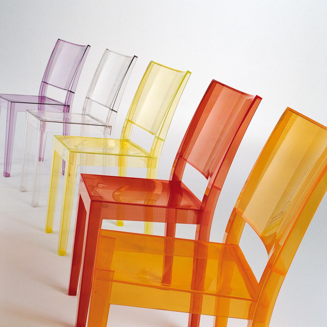 Sedie Plastica Trasparente Colorate.La Marie Kartell Philippe Starck Klat