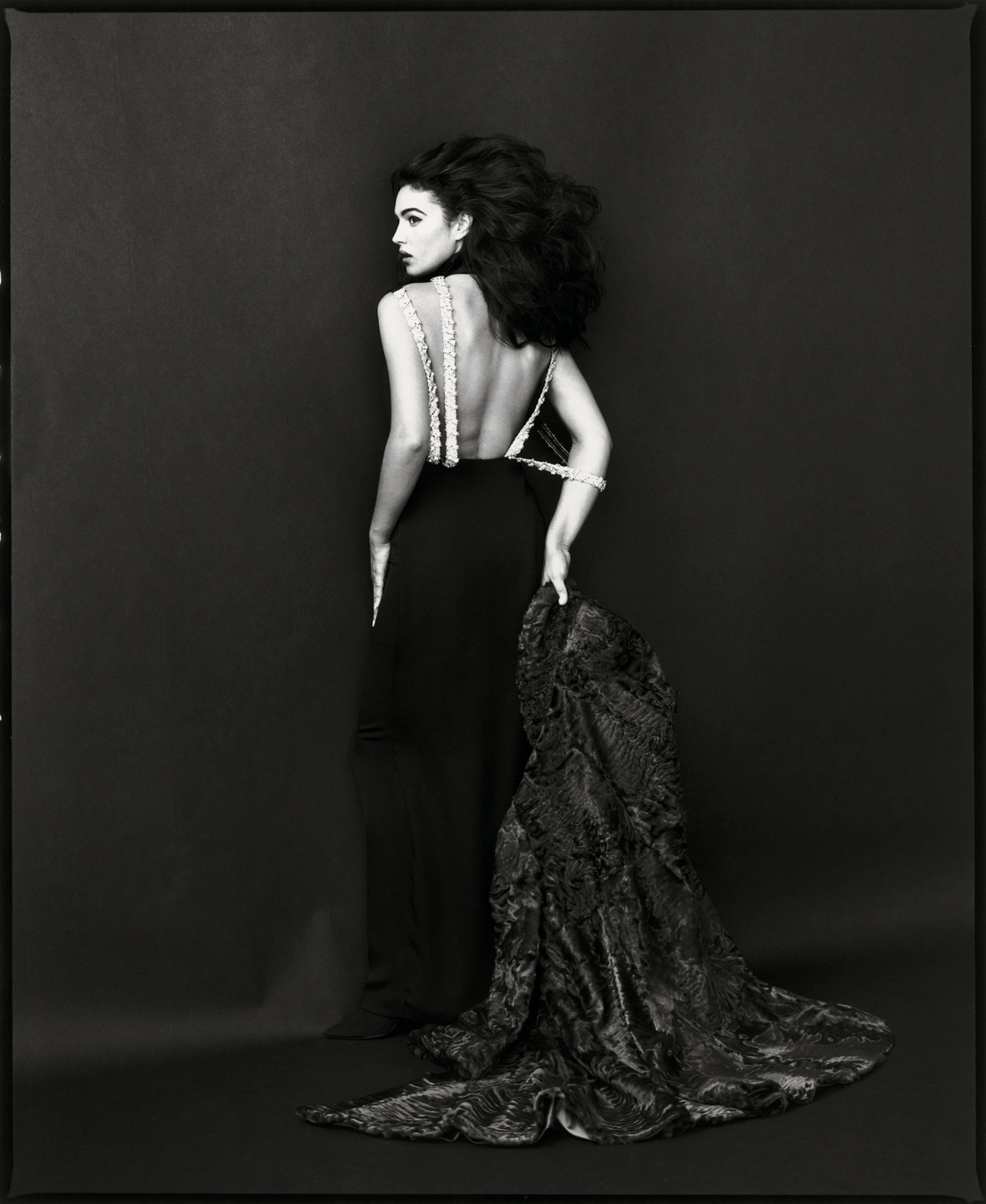 Monica Bellucci, 1991. Foto di Toni Thorimbert.