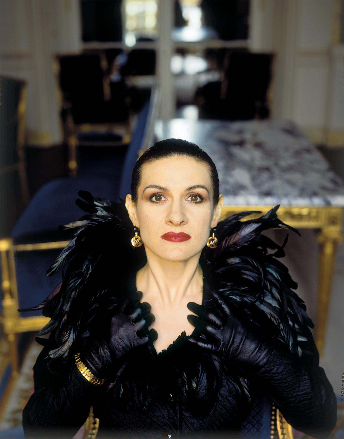 Paloma Picasso, 1986. Foto di Toni Thorimbert.