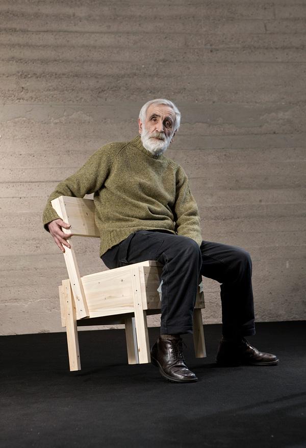 Enzo Mari, 2012. Sedia 1 Chair, design by Enzo Mari for Artek, 1974.