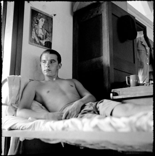 Self-portrait during National Service in Singapore by David Bailey, 1957 © David Bailey