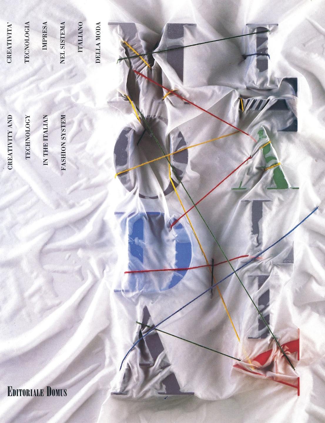 """Per Domus Academy catalogo e poster della mostra """"Moda Italia"""" a New York. Design di Italo Lupi."""
