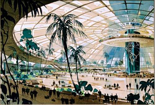 Pereira and Luckman, LAX original Plan, 1952 (Courtesy LAWA Flight Path Learning Center)
