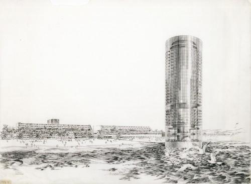 DMJM, Pacific Ocean Park Redevelopment, 1969. (courtesy Edward Cella Art and Architecture)