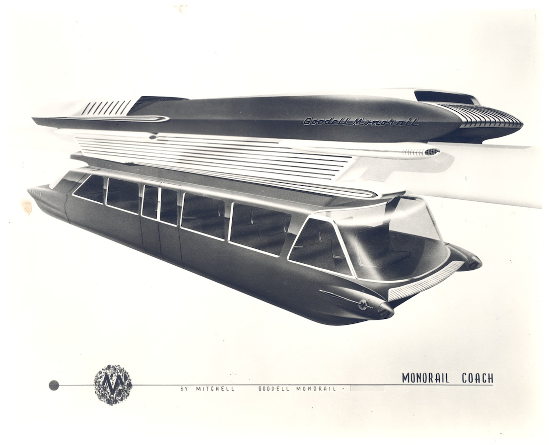 Goodell Monorail, 1963. (Los Angeles County Metropolitan Transportation Authority Research Library and Archive)