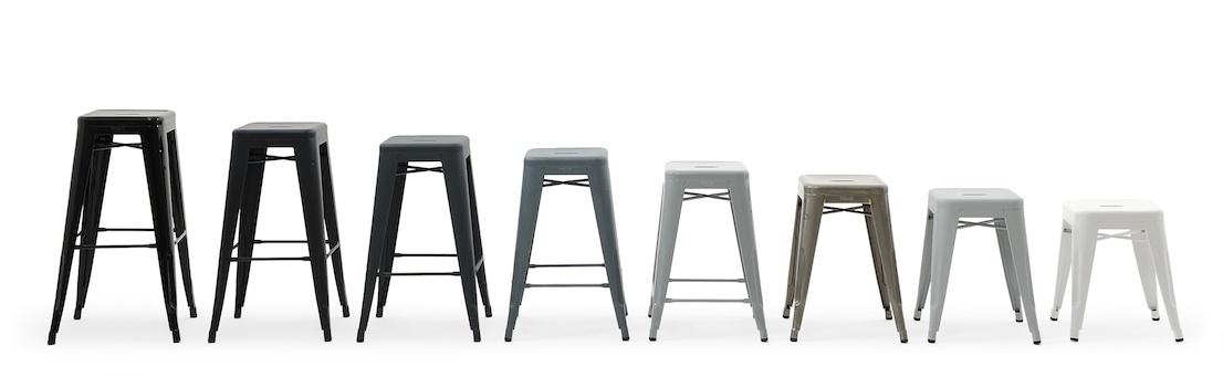 H Stool, design di Xavier Pauchard per Tolix