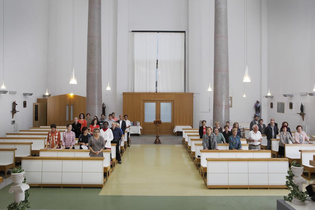 Andate in pace, Chiesa di Santa Margherita Maria Alacoque, Roma. Sabato, ore 18:33.