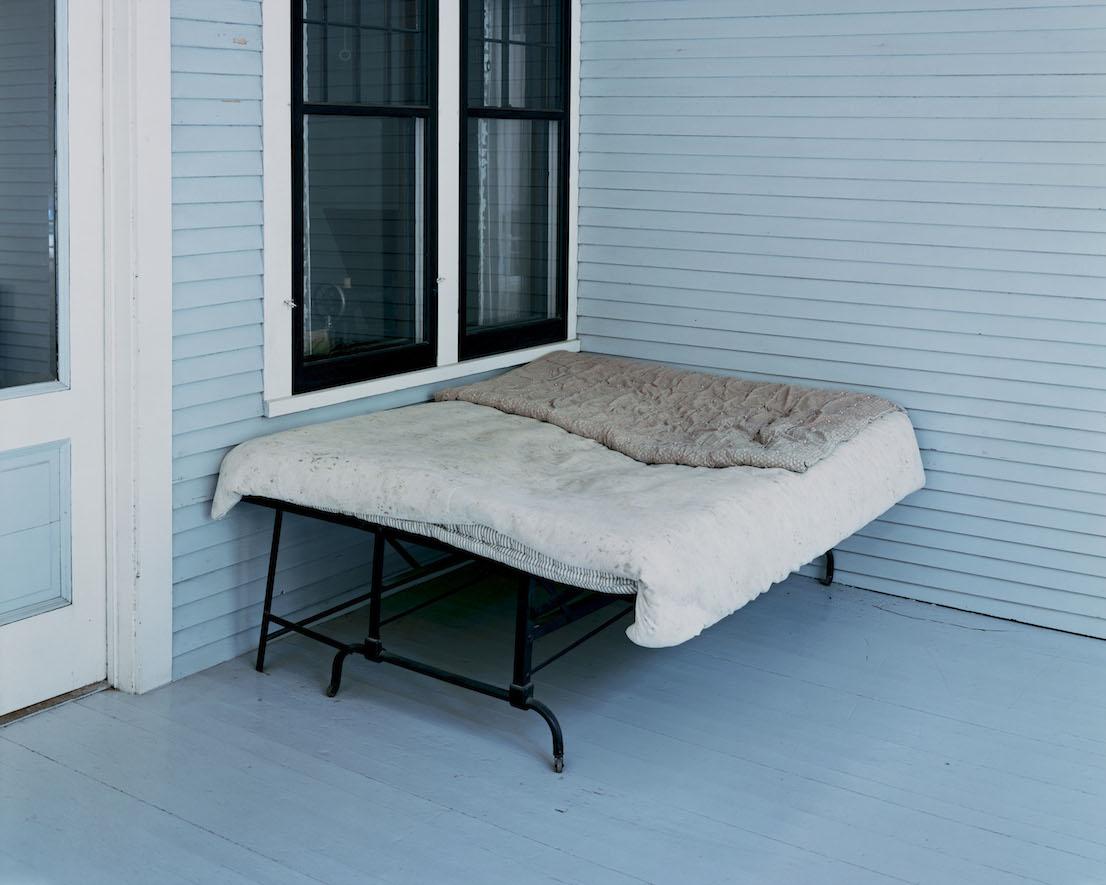 Alec Soth, Charles Lindbergh's Boyhood Bed, Little Falls, MN, 1999.