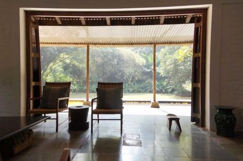 Dove vivono gli architetti, mostra allestita al Padiglione 9 di Fiera Milano Rho-Pero, per il Salone del Mobile 2014. Curata da Francesca Molteni e Davide Pizzigoni. Casa di Bijoy Jain.