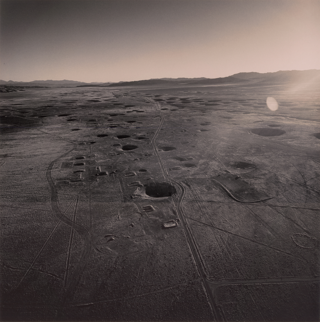 Emmet Gowin, Looking South from Area 10, Nevada Test Site, 1996. Courtesy Pace/Macgill Gallery, New York, © Emmet Gowin.