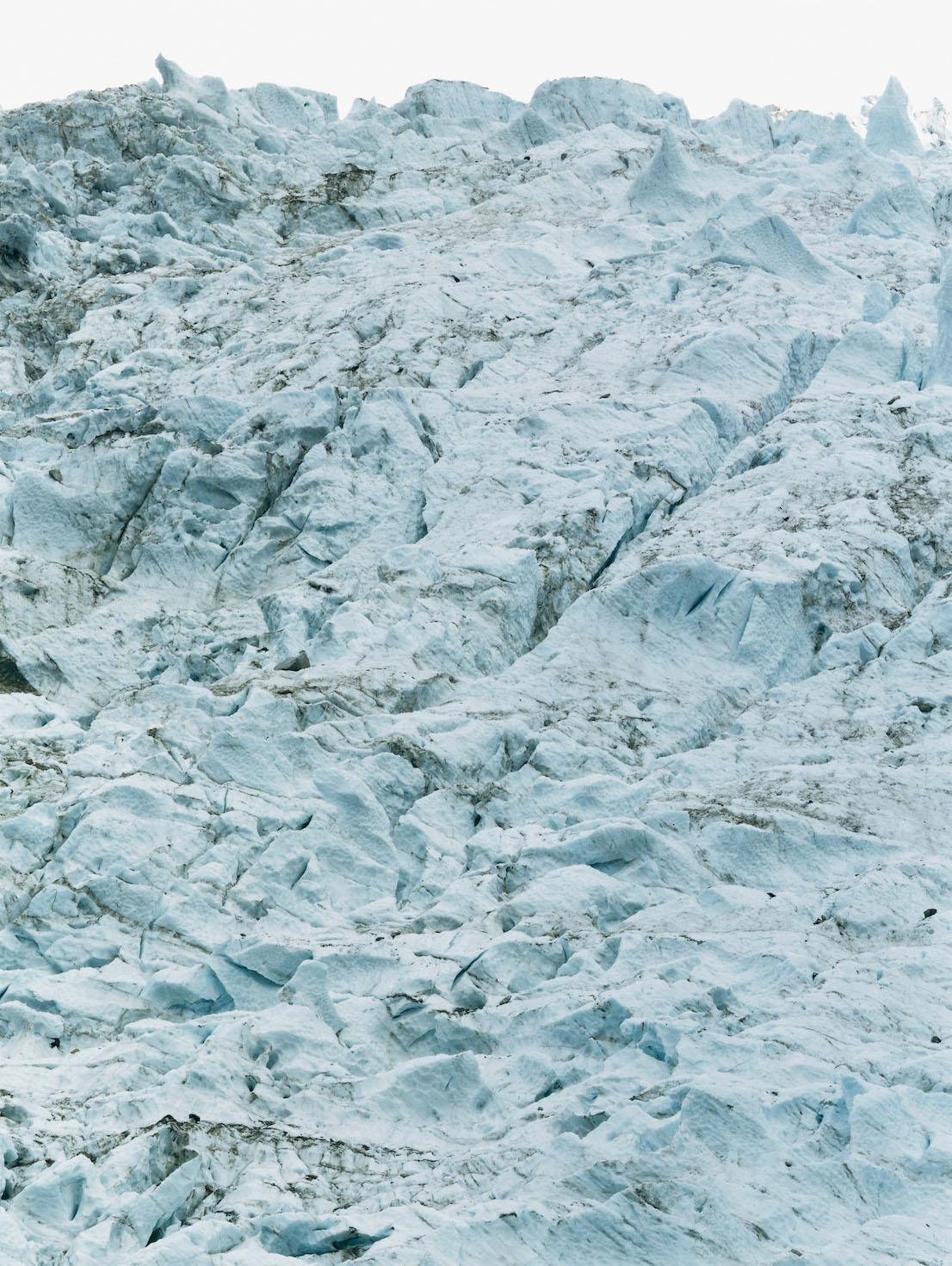 Axel Hütte Glaciers des Bossons, Francia dalla serie Glaciers, 1997.