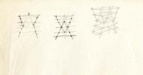 Nuvola Rossa, design di Vico Magistretti per Cassina. Schizzo.