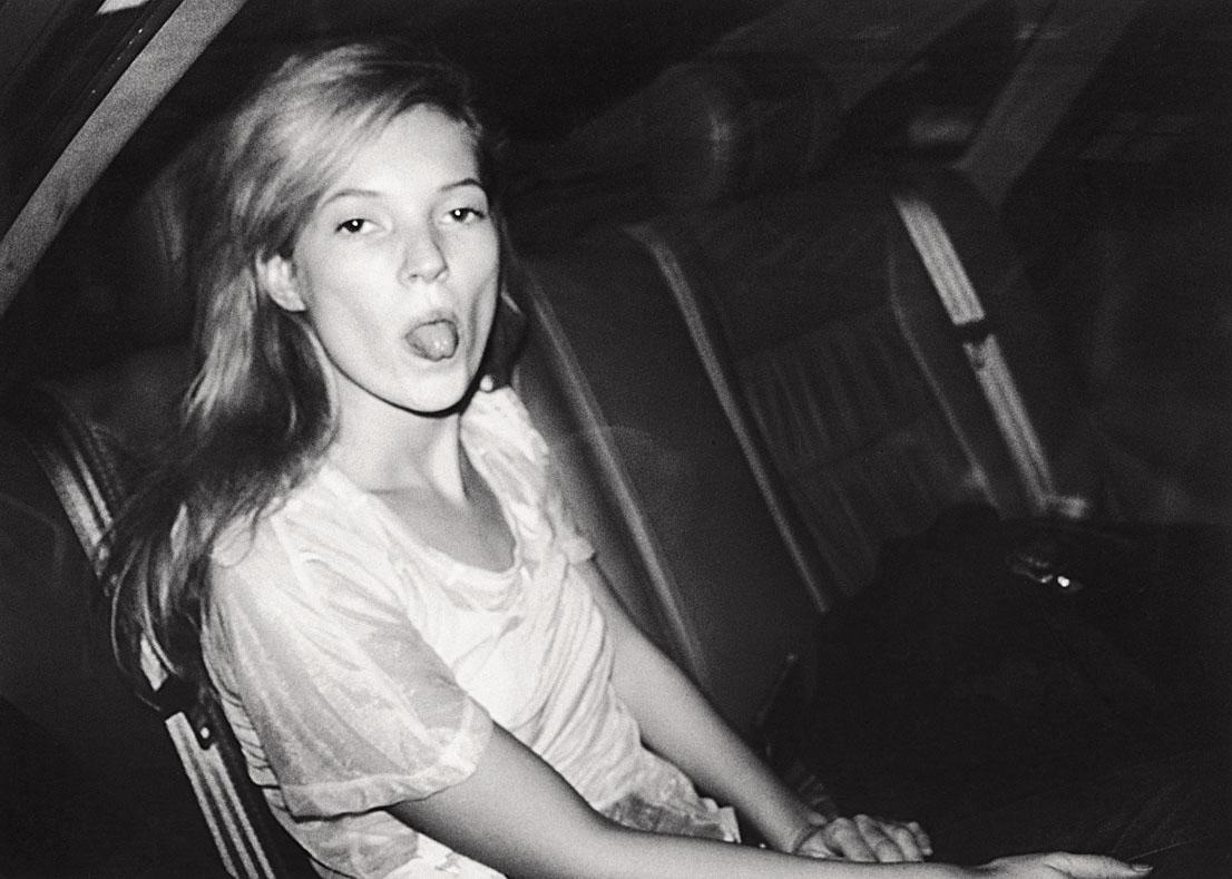 Bruno Mouron, Kate Moss lors de la Fashion Week, Paris, 1992