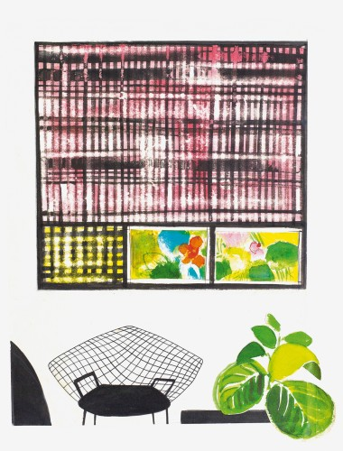 Studio per un appartamento con dipinti di Capogrossi, 1957