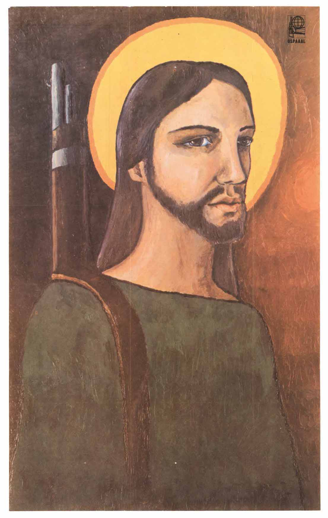 Alfrédo Rostgaard, Cristo guerrillero, 1969. OSPAAAL