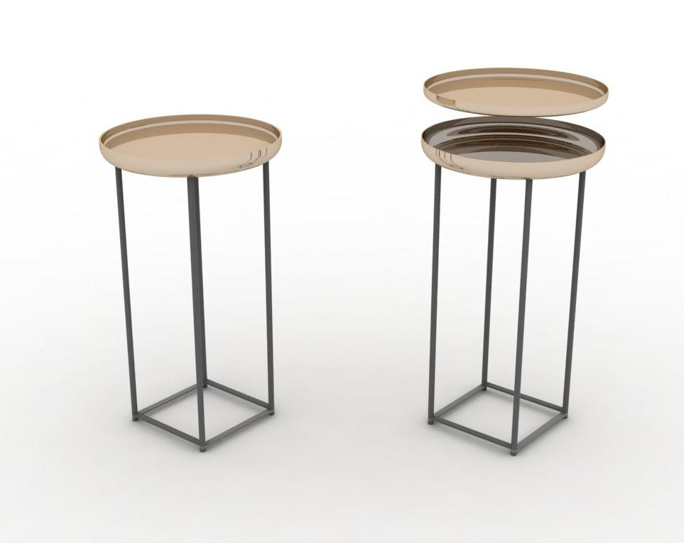 Tavolini Torei, design di Luca Nichetto per Cassina.