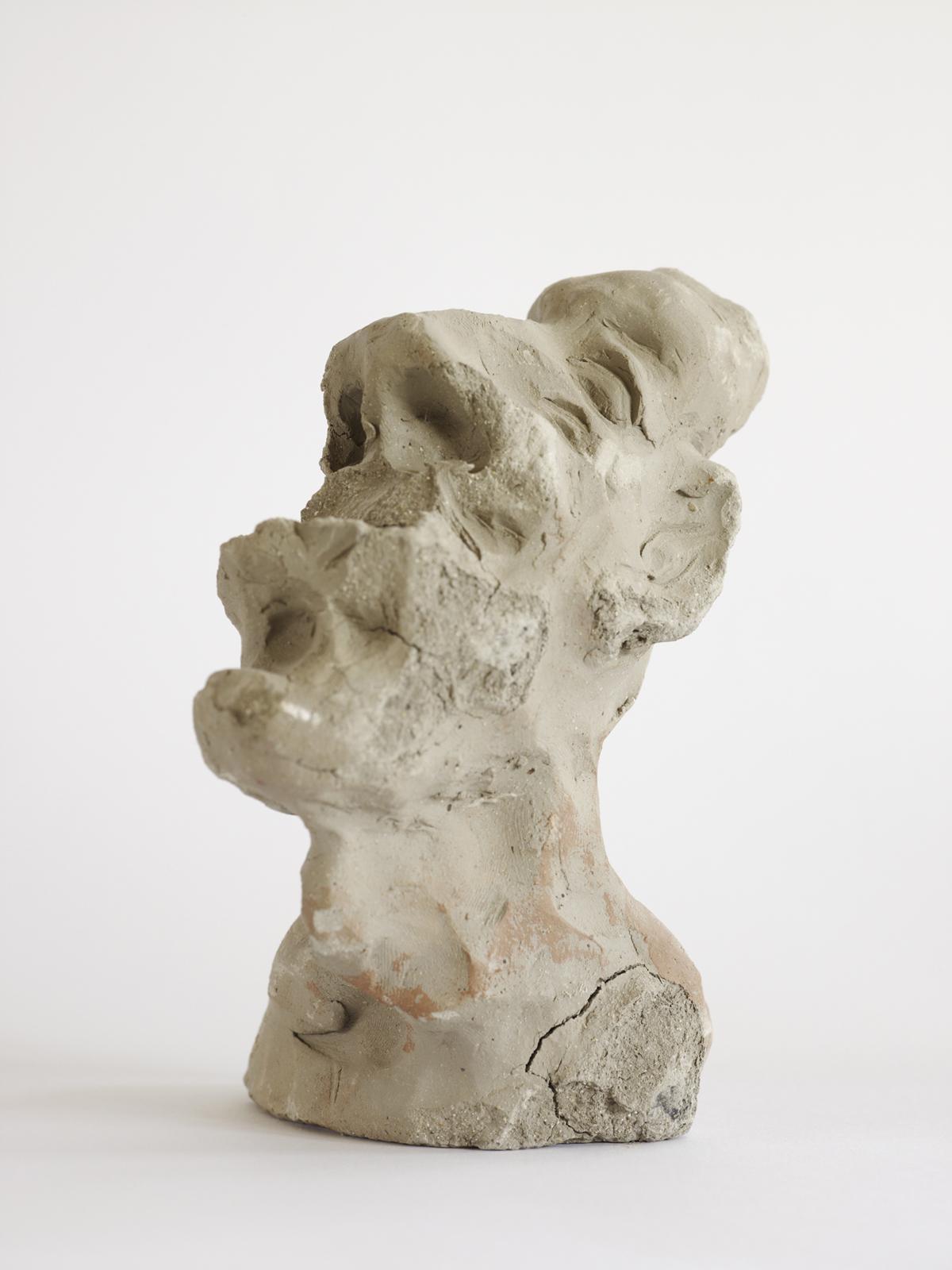 Peter Granser, clay figures (01, 02, 03, 05),J'ai perdu ma tête