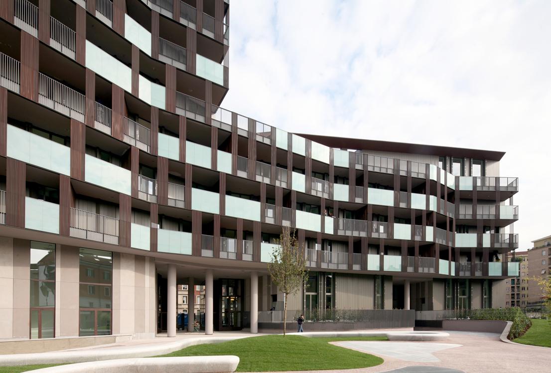 Edificio residenziale la Corte Verde di Corso Como Cino Zucchi Architetti Milano, 2006-2013