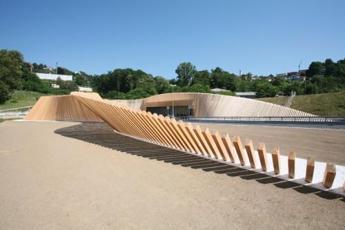 Ingresso della galleria Vedeggio Cassarate (Portale Cassarate) Cino Zucchi Architetti con studio d'ingegneria Mauri & Banci SA Lugano (Svizzera), 2012