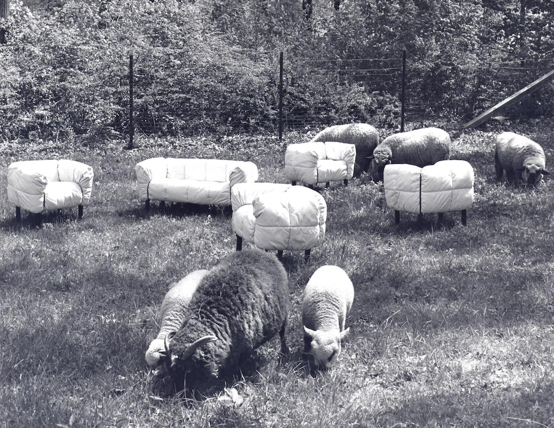 Pecorelle, design di Cini Boeri per Arflex, 1972.