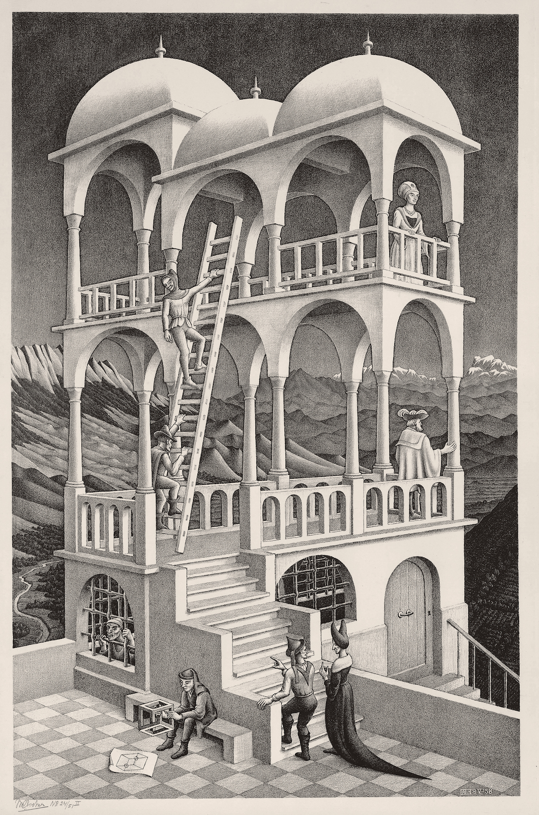 the life and works of maurits cornelis escher Overview the dutch artist maurits c escher (1898-1972) was a draftsman, book illustrator, tapestry designer, and muralist, but his primary work was as a printmaker.