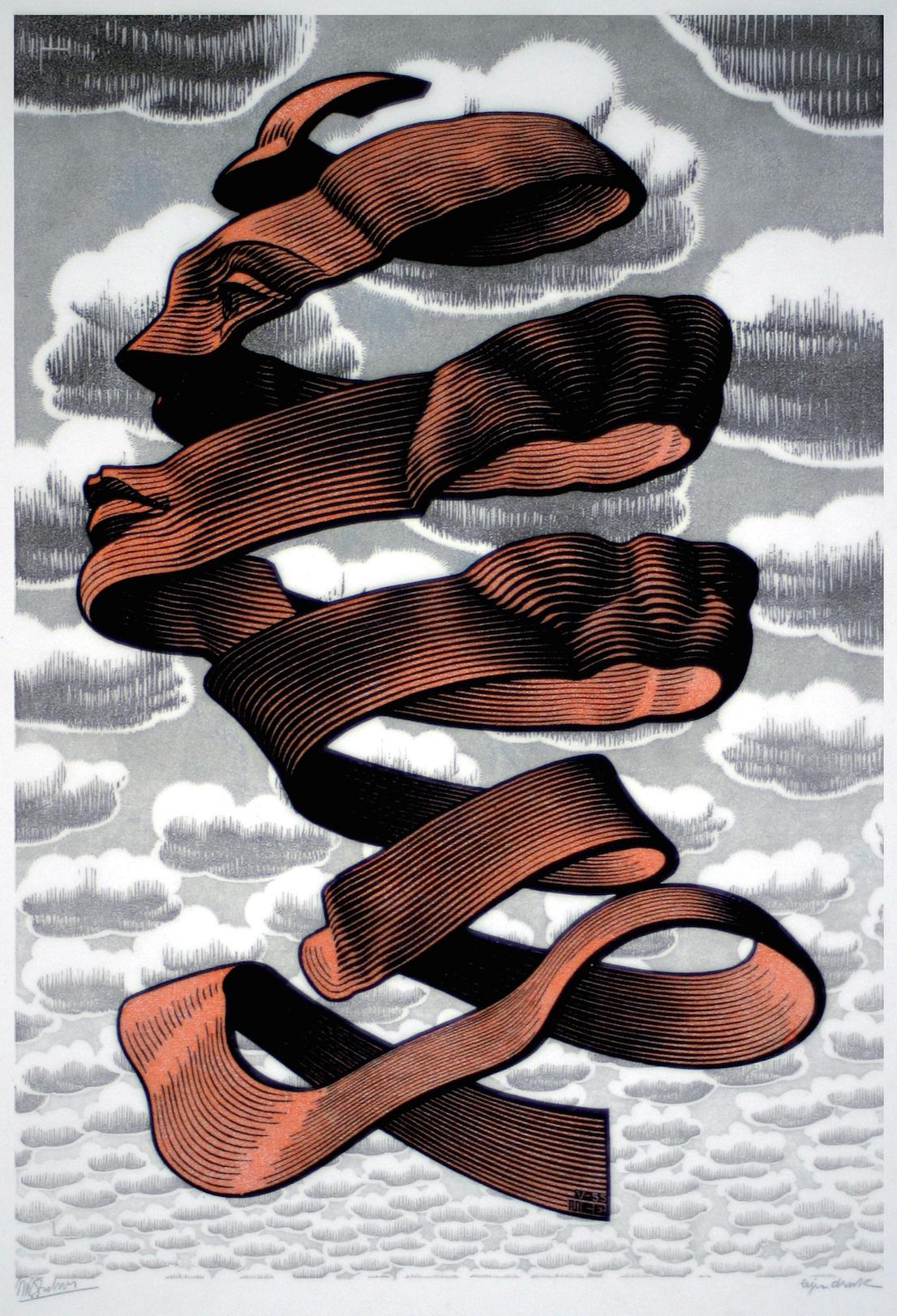 Maurits Cornelis Escher Buccia 1955 xilografia cm 34,5 x 23,5 Collezione Federico Giudiceandrea All M.C. Escher works © 2014 The M.C. Escher Company. All rights reserved www.mcescher.com