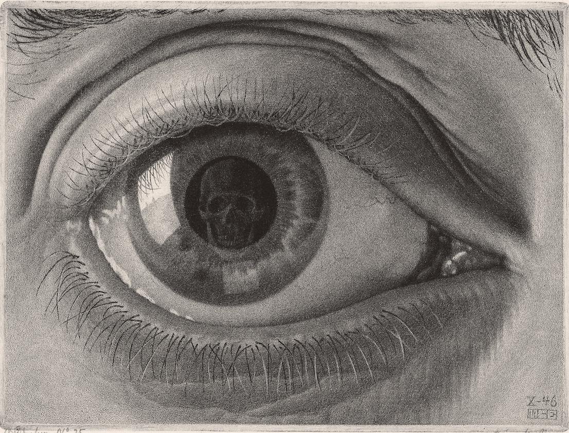 Maurits Cornelis Escher Occhio 1946 mezzatinta, 139 x 86 mm Collezione privata All M.C. Escher works © 2014 The M.C. Escher Company. All rights reserved www.mcescher.com