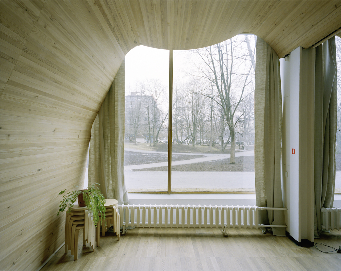Viipuri (Vyborg) City Library, Vyborg, Karelia (today Russia) 1927-1935. Image courtesy of the Alvar Aalto Museum. Photograph is by Gustaf Welin